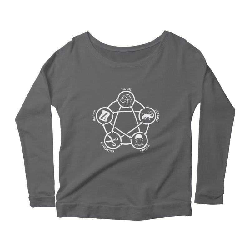 Rock Paper Scissors Lizard Spock Women's Scoop Neck Longsleeve T-Shirt by Synner Design