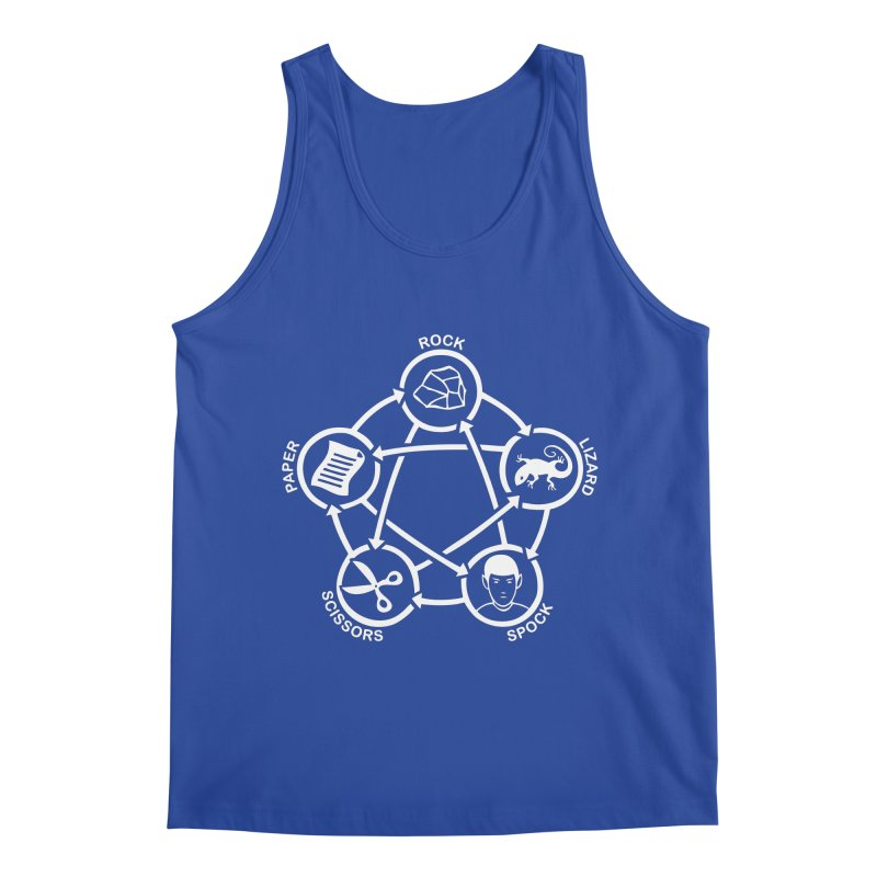 Rock Paper Scissors Lizard Spock Men's Regular Tank by Synner Design