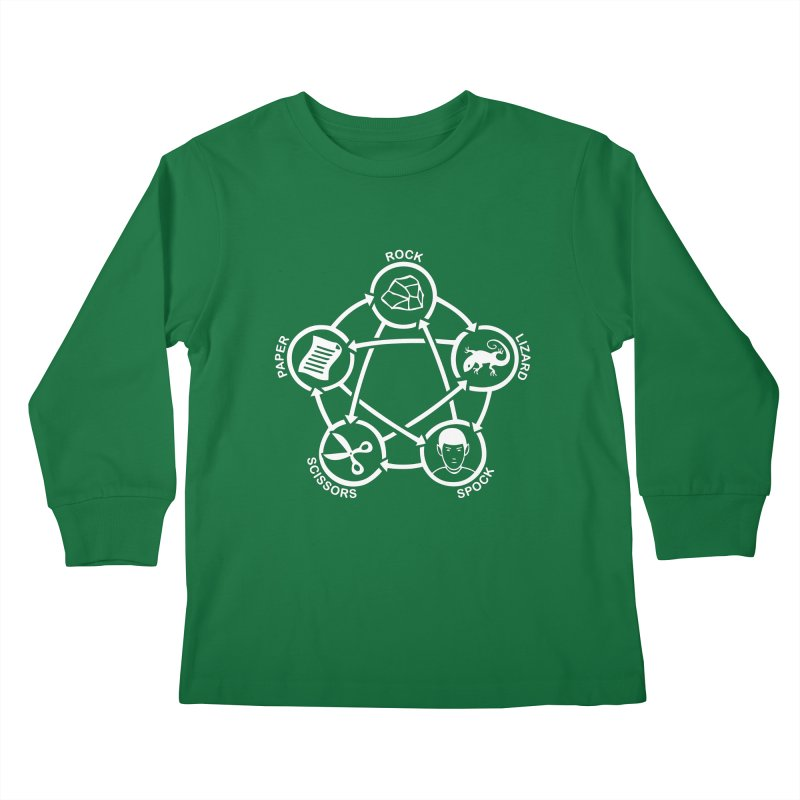 Rock Paper Scissors Lizard Spock Kids Longsleeve T-Shirt by Synner Design