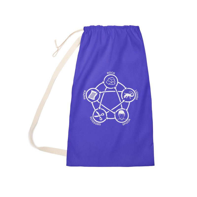Rock Paper Scissors Lizard Spock Accessories Laundry Bag Bag by Synner Design