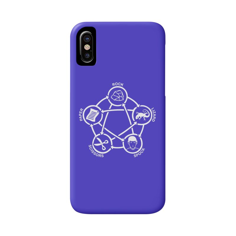 Rock Paper Scissors Lizard Spock Accessories Phone Case by Synner Design