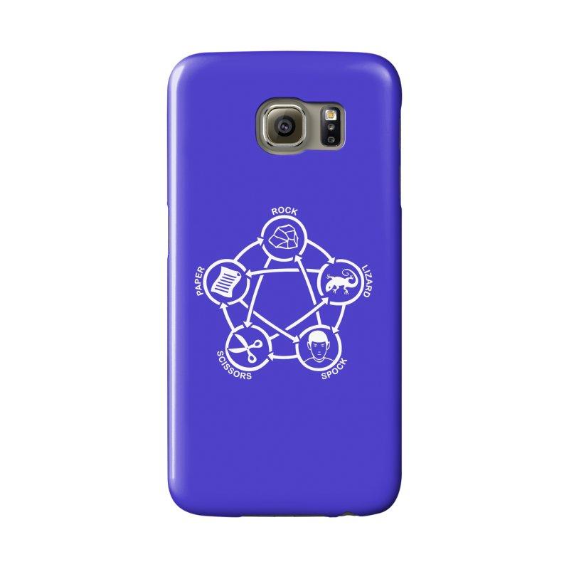 Rock Paper Scissors Lizard Spock Accessories Phone Case by Synner Design