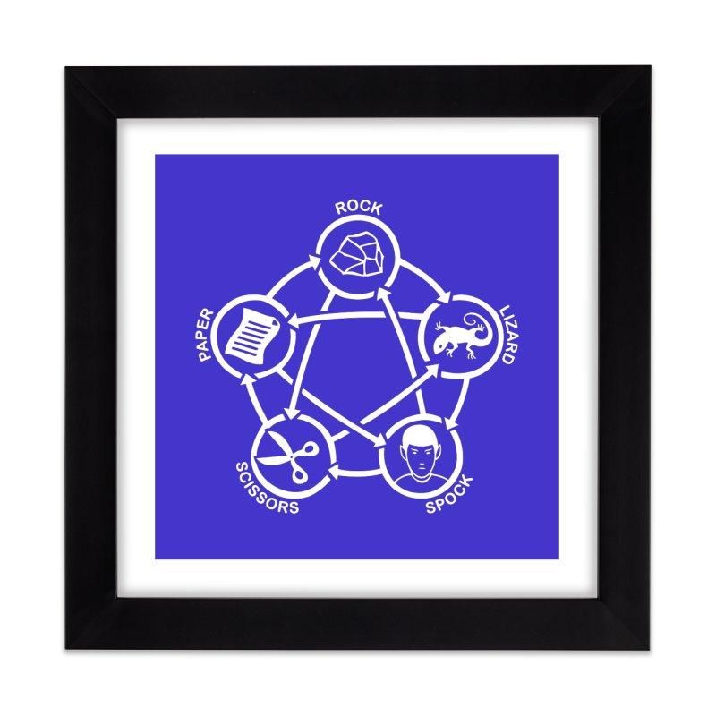 Rock Paper Scissors Lizard Spock Home Framed Fine Art Print by Synner Design