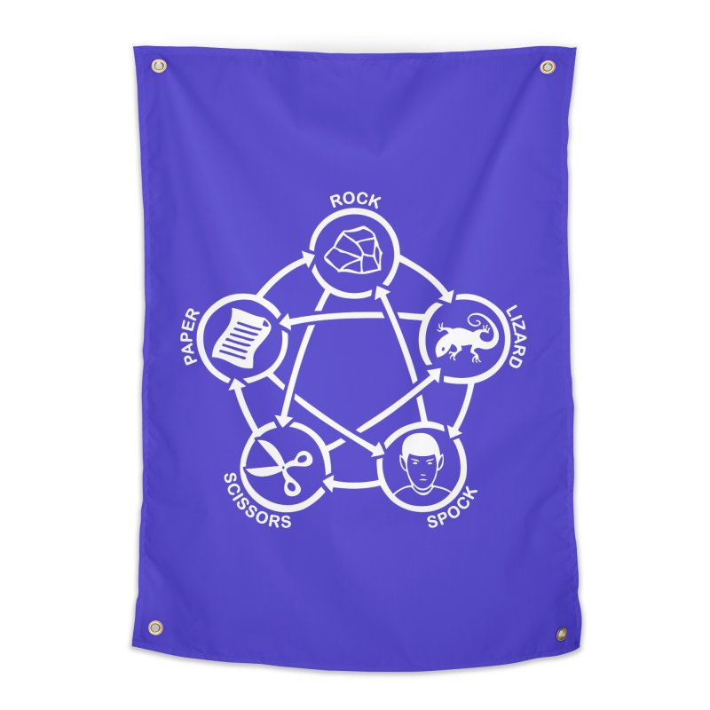 Rock Paper Scissors Lizard Spock Home Tapestry by Synner Design