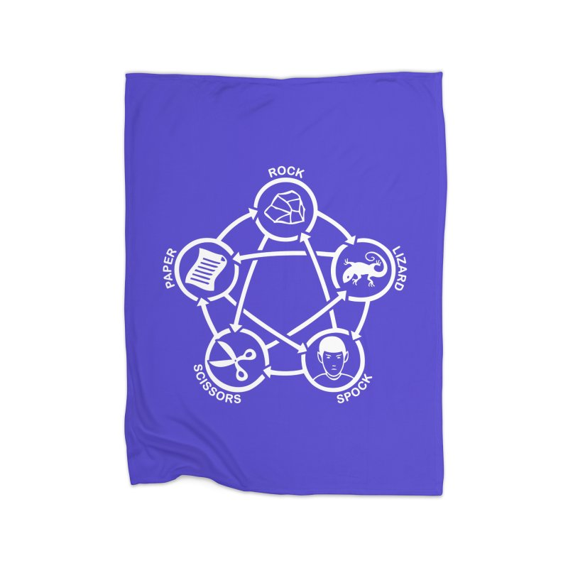 Rock Paper Scissors Lizard Spock Home Fleece Blanket Blanket by Synner Design