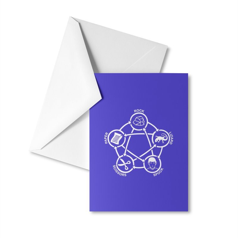 Rock Paper Scissors Lizard Spock Accessories Greeting Card by Synner Design