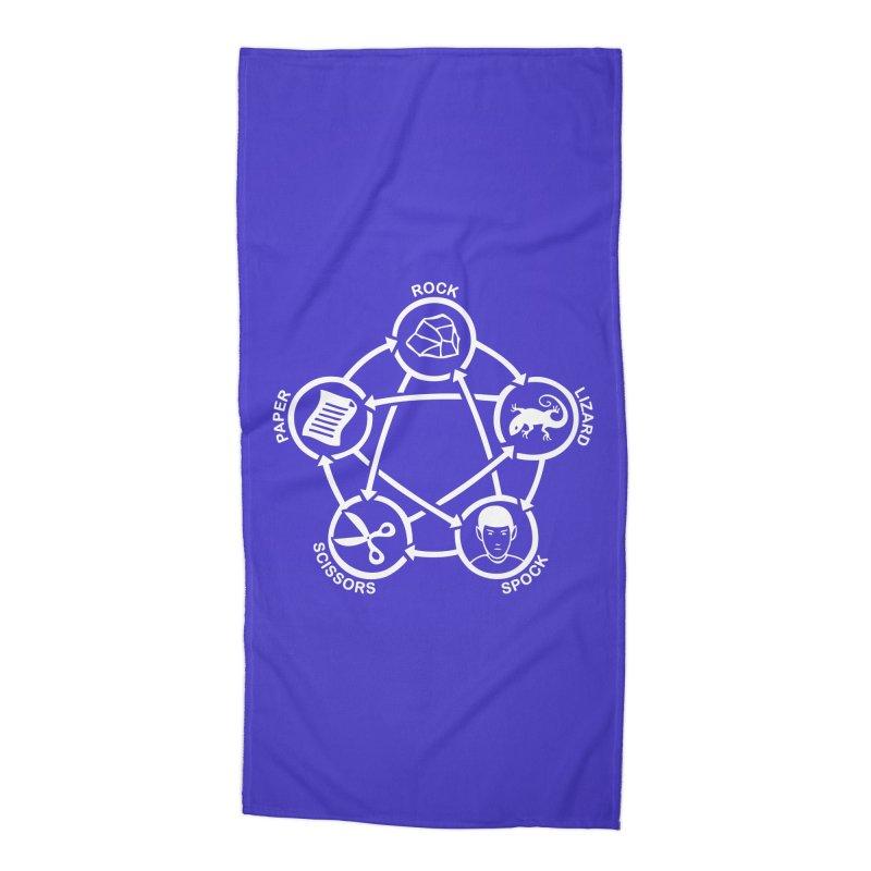 Rock Paper Scissors Lizard Spock Accessories Beach Towel by Synner Design