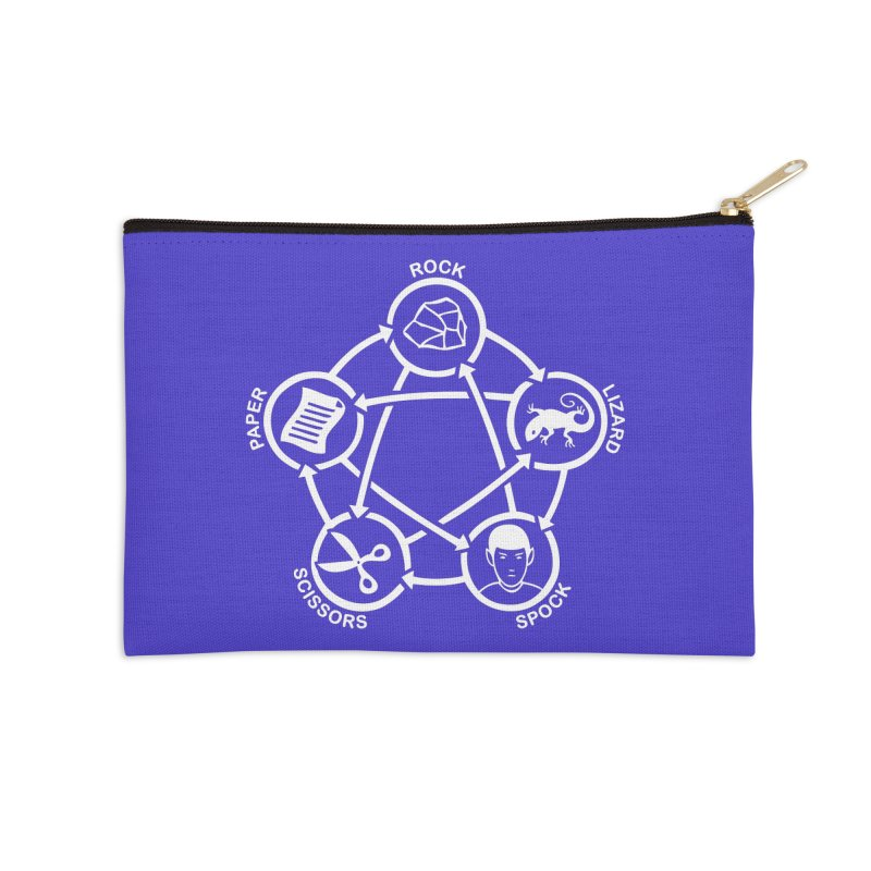 Rock Paper Scissors Lizard Spock Accessories Zip Pouch by Synner Design