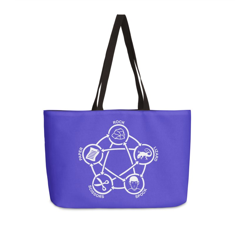 Rock Paper Scissors Lizard Spock Accessories Weekender Bag Bag by Synner Design
