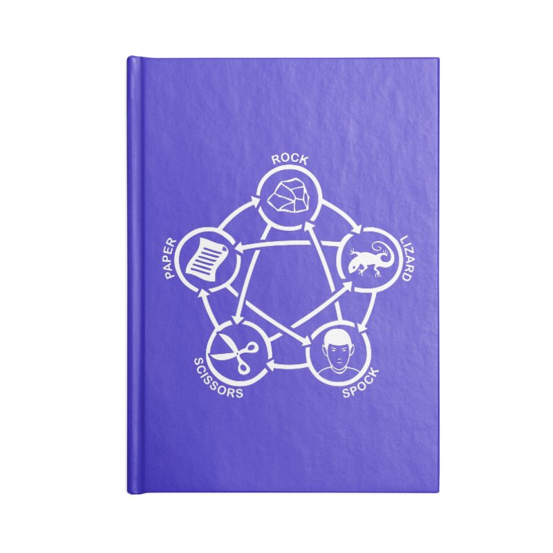 Rock Paper Scissors Lizard Spock Accessories Blank Journal Notebook by Synner Design