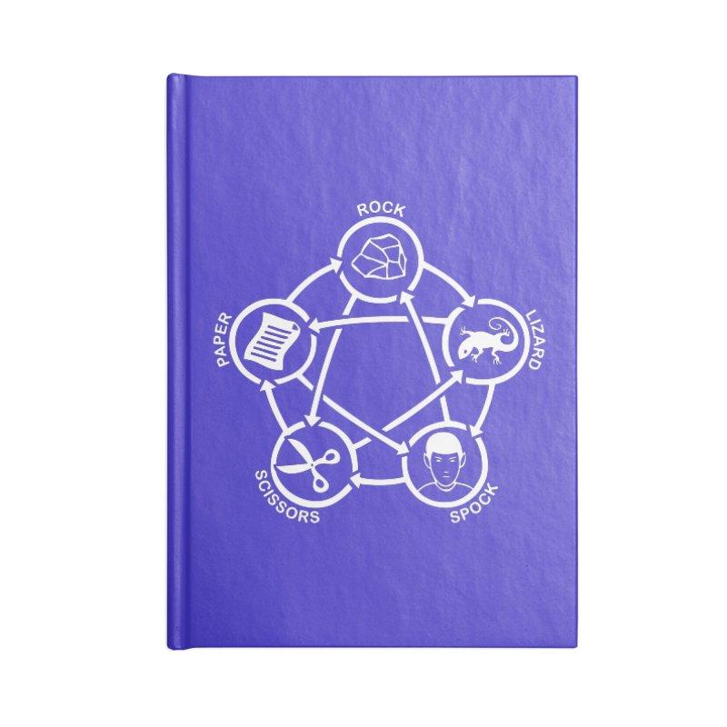 Rock Paper Scissors Lizard Spock Accessories Lined Journal Notebook by Synner Design