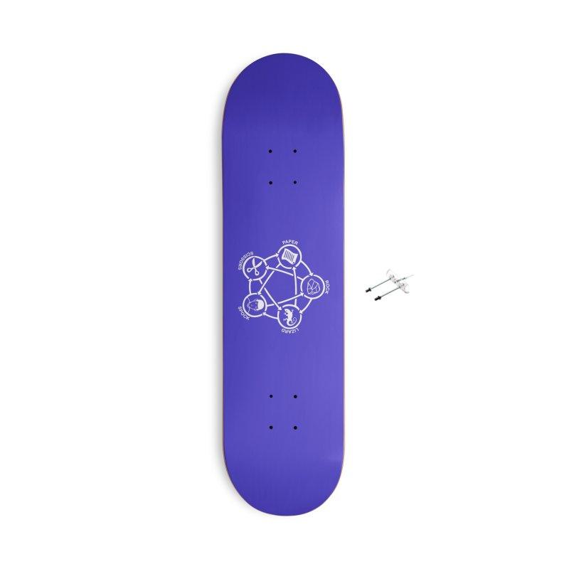 Rock Paper Scissors Lizard Spock Accessories Skateboard by Synner Design