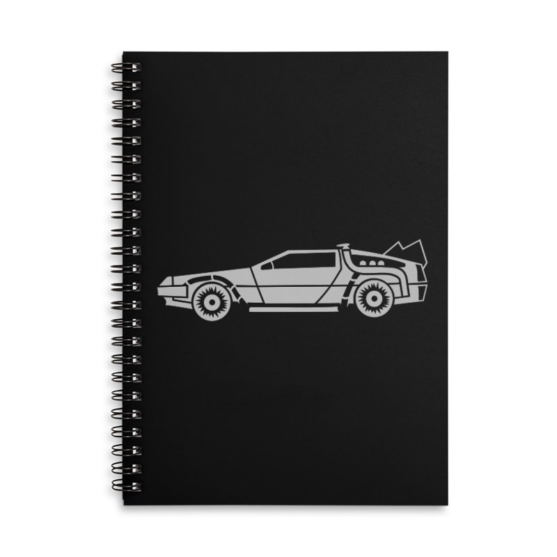 Delorean Accessories Lined Spiral Notebook by Synner Design