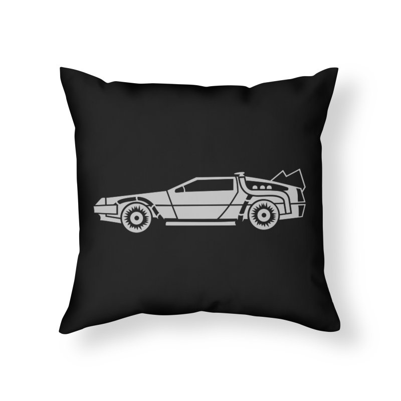 Delorean Home Throw Pillow by Synner Design