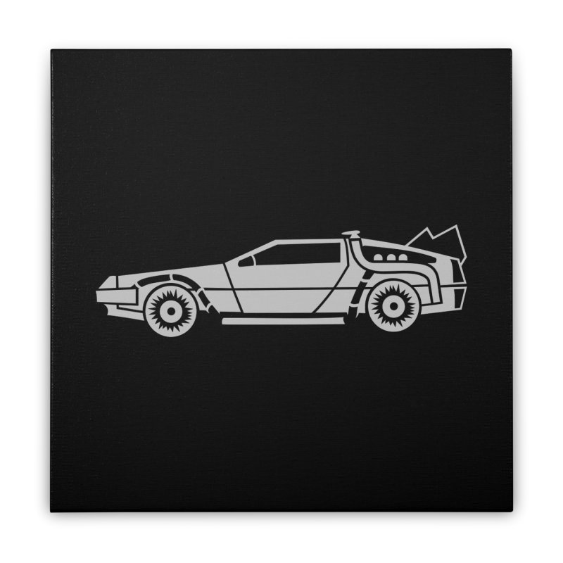 Delorean Home Stretched Canvas by Synner Design