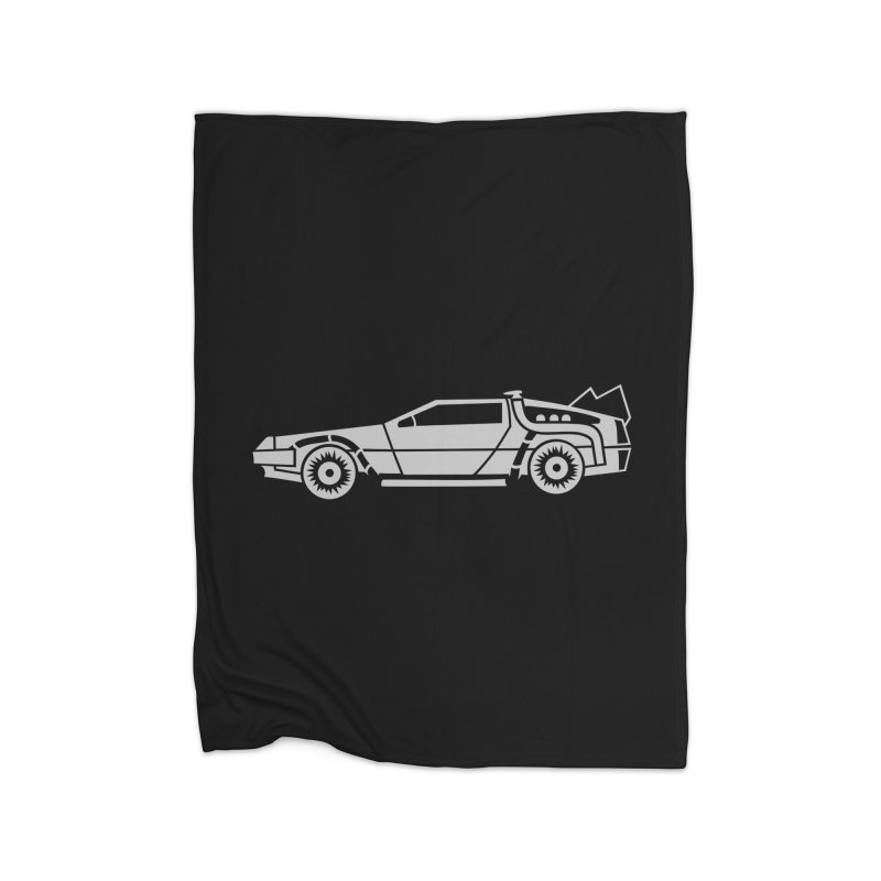 Delorean Home Fleece Blanket Blanket by Synner Design