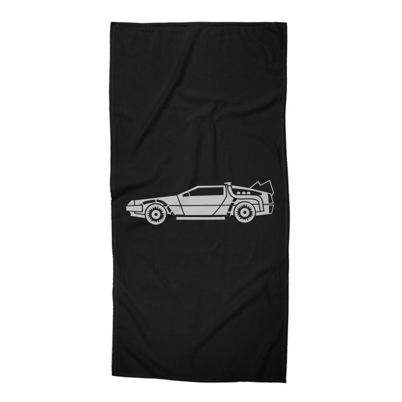 Delorean Accessories Beach Towel by Synner Design