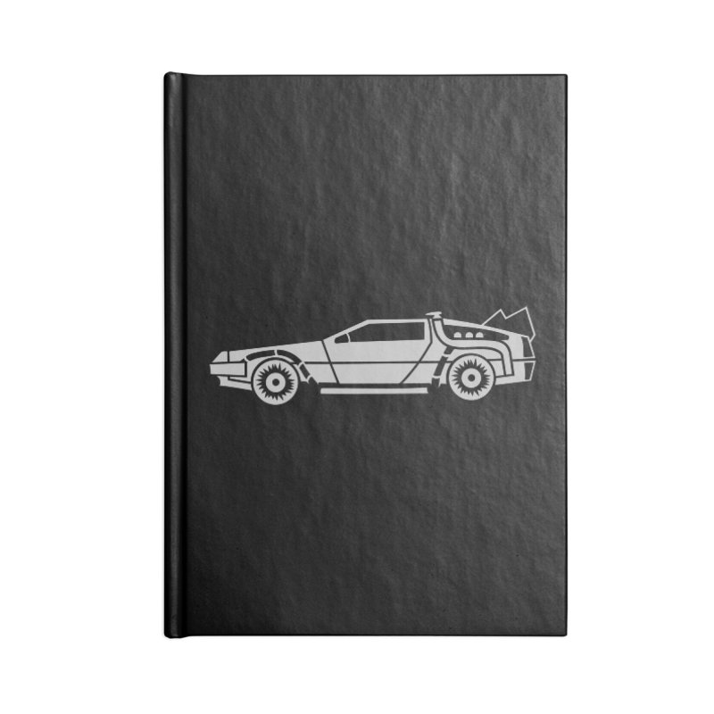 Delorean Accessories Blank Journal Notebook by Synner Design