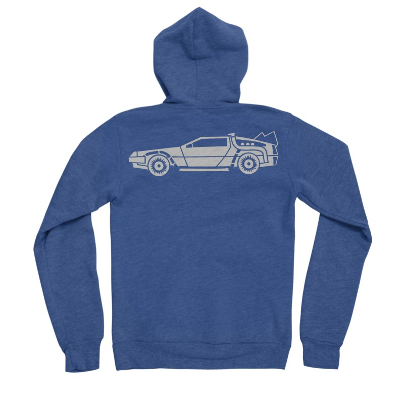 Delorean Men's Sponge Fleece Zip-Up Hoody by Synner Design