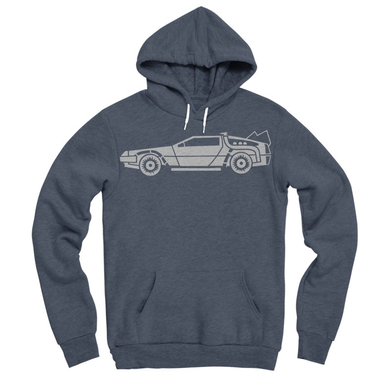 Delorean Men's Sponge Fleece Pullover Hoody by Synner Design