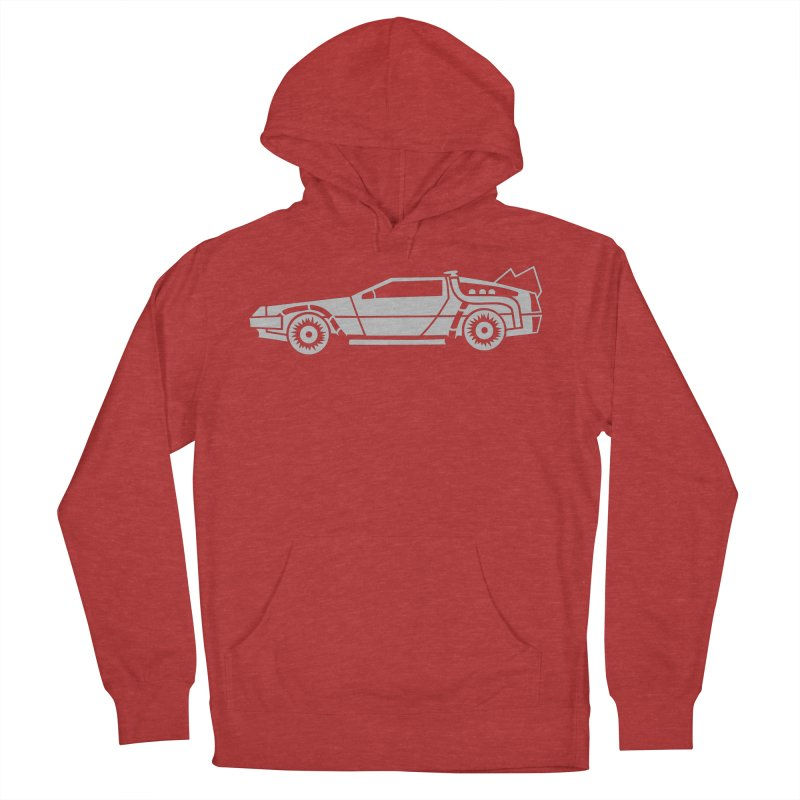 Delorean Men's French Terry Pullover Hoody by Synner Design