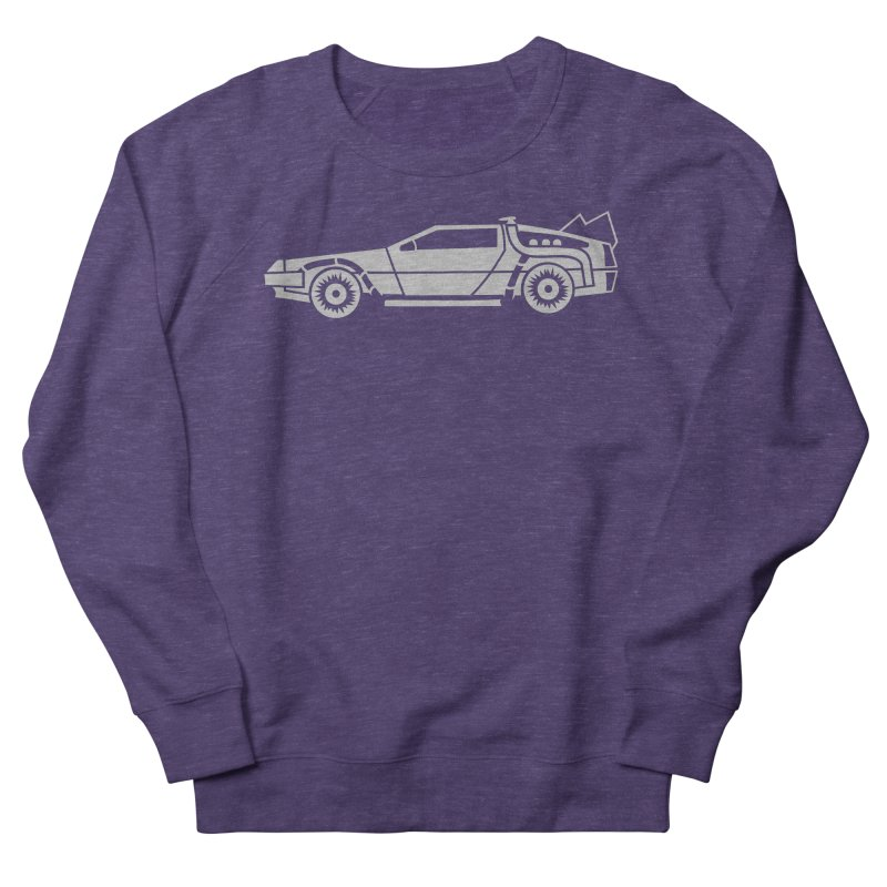 Delorean Men's French Terry Sweatshirt by Synner Design