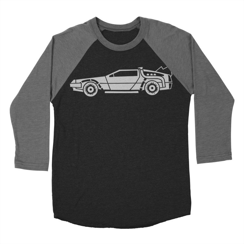 Delorean Women's Baseball Triblend Longsleeve T-Shirt by Synner Design