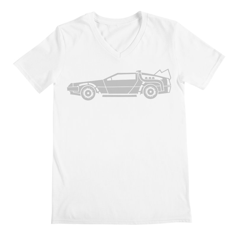 Delorean Men's Regular V-Neck by Synner Design