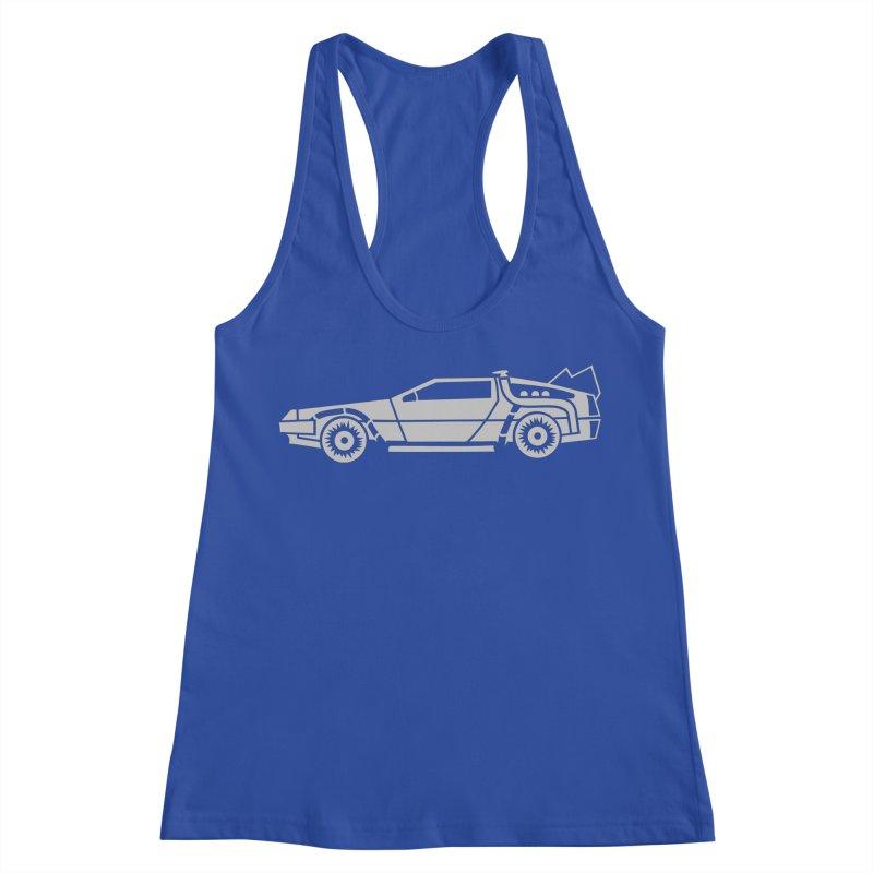Delorean Women's Racerback Tank by Synner Design