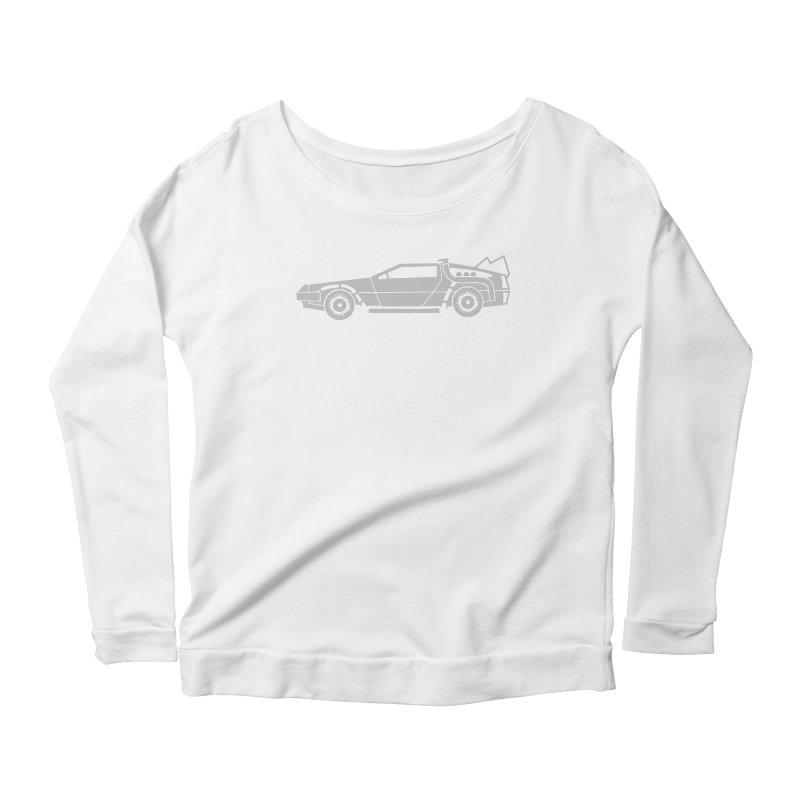 Delorean Women's Scoop Neck Longsleeve T-Shirt by Synner Design