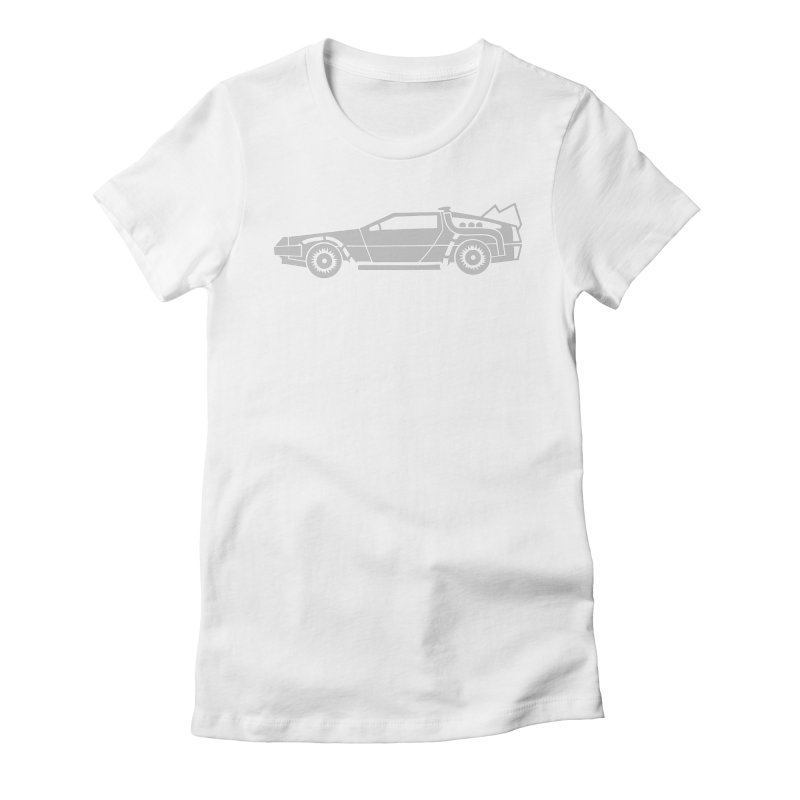 Delorean Women's Fitted T-Shirt by Synner Design