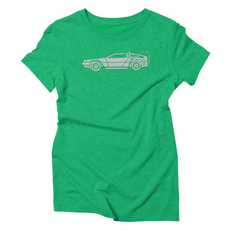 Delorean Women's Triblend T-Shirt by Synner Design