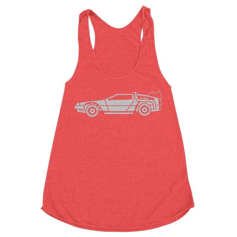 Delorean Women's Racerback Triblend Tank by Synner Design