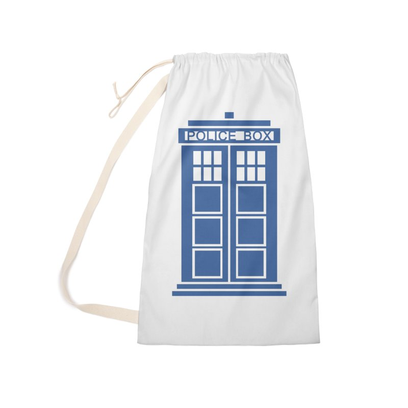 Tardis flies Accessories Laundry Bag Bag by Synner Design
