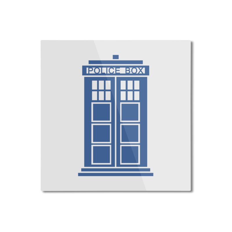 Tardis flies Home Mounted Aluminum Print by Synner Design