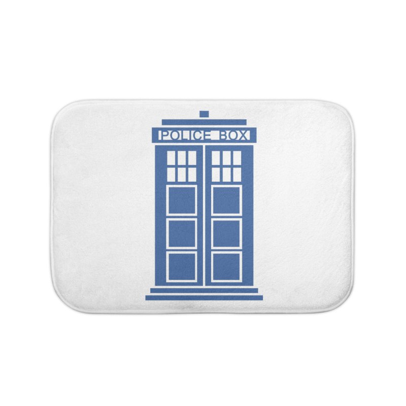 Tardis flies Home Bath Mat by Synner Design