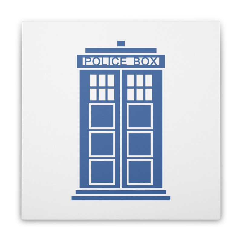 Tardis flies Home Stretched Canvas by Synner Design