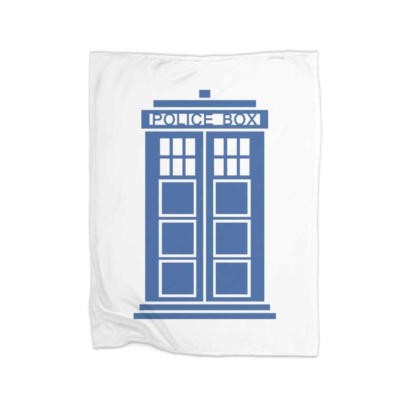 Tardis flies Home Fleece Blanket Blanket by Synner Design