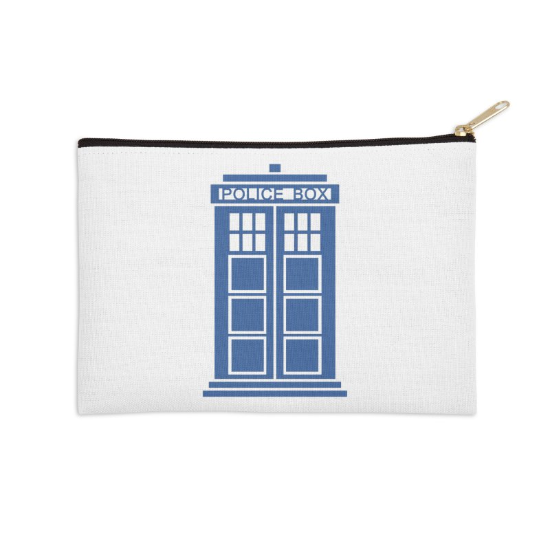 Tardis flies Accessories Zip Pouch by Synner Design
