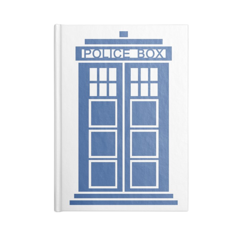 Tardis flies Accessories Lined Journal Notebook by Synner Design