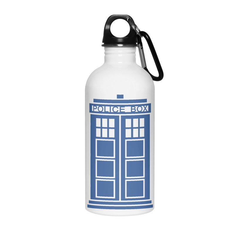 Tardis flies Accessories Water Bottle by Synner Design