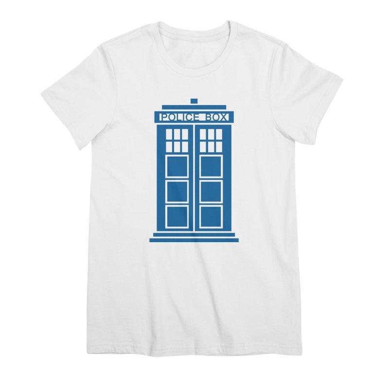 Tardis flies Women's Premium T-Shirt by Synner Design