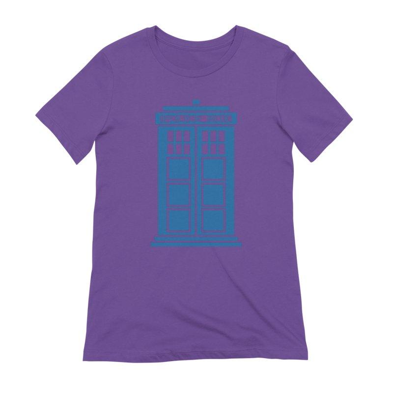 Tardis flies Women's Extra Soft T-Shirt by Synner Design