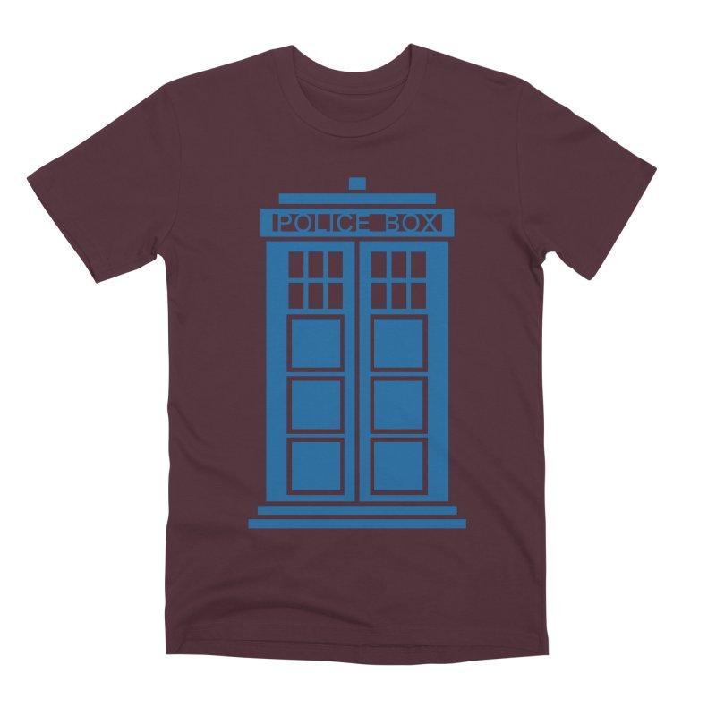 Tardis flies Men's Premium T-Shirt by Synner Design