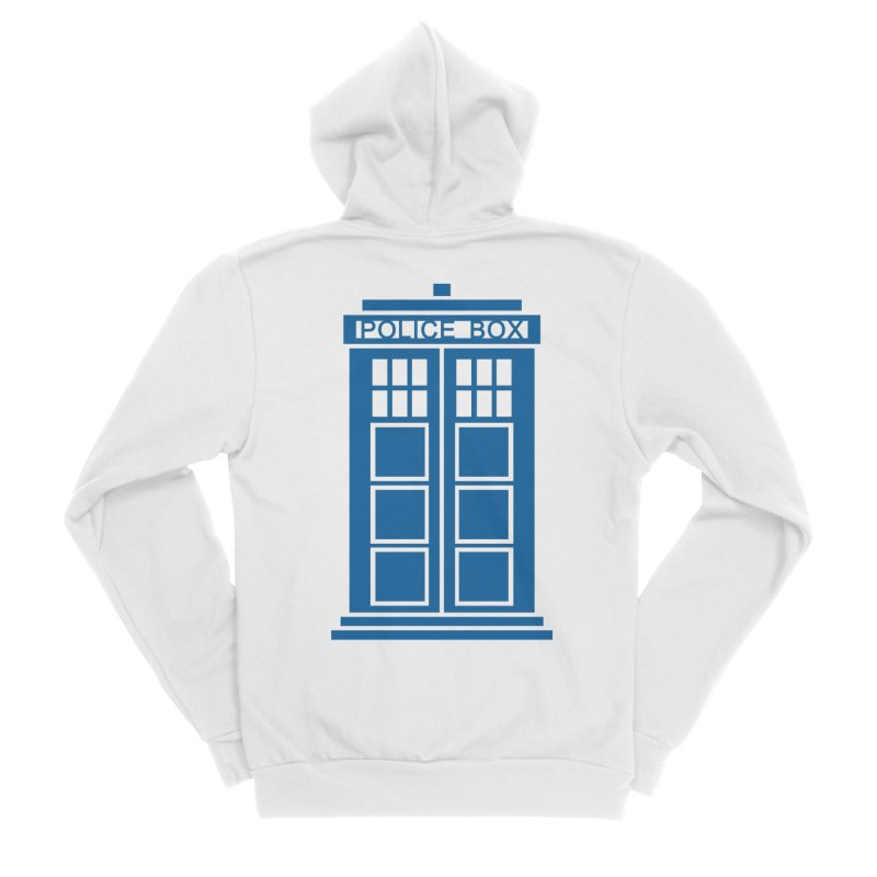 Tardis flies Men's Sponge Fleece Zip-Up Hoody by Synner Design