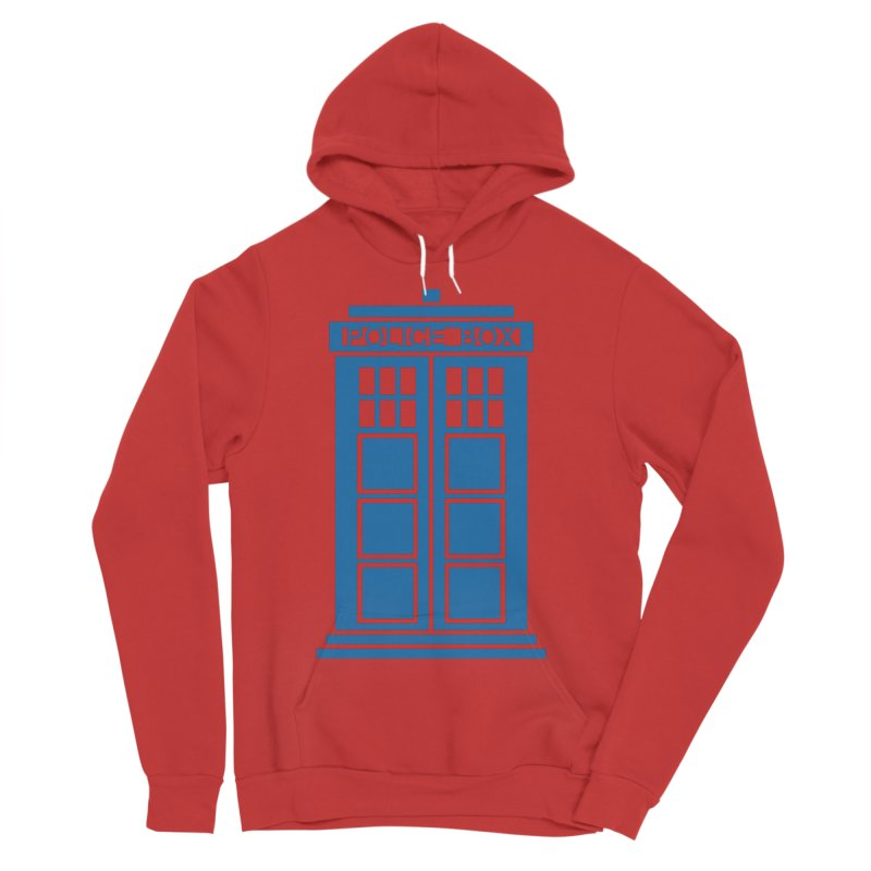 Tardis flies Men's Sponge Fleece Pullover Hoody by Synner Design