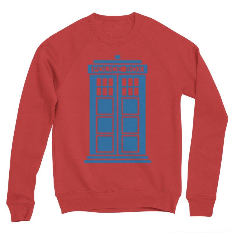 Tardis flies Women's Sponge Fleece Sweatshirt by Synner Design