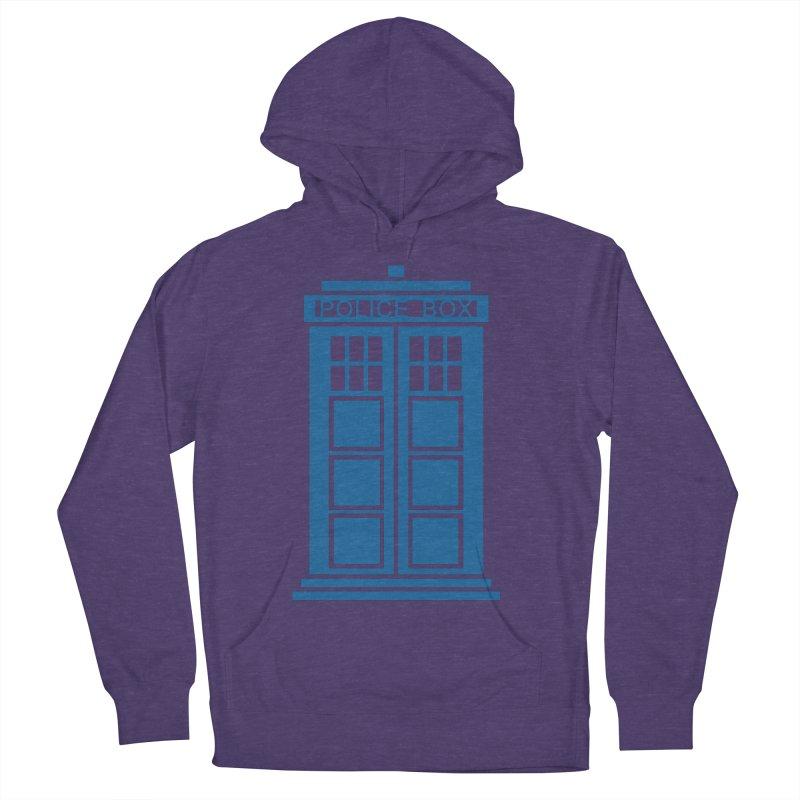 Tardis flies Men's French Terry Pullover Hoody by Synner Design