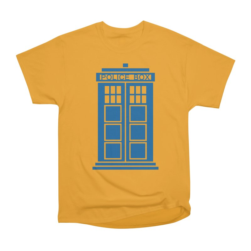 Tardis flies Women's Heavyweight Unisex T-Shirt by Synner Design