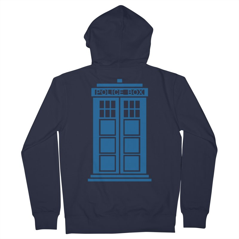 Tardis flies Women's French Terry Zip-Up Hoody by Synner Design